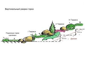 Альпийская горка своими руками, фото